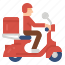 delivery, food, motorcycle, scooter, workfromhome icon