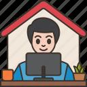 office, entrepreneur, working, home, freelance