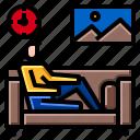 relax, sitting, sofa icon