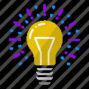 bulb, creativity, idea, innovation, light, thought, work