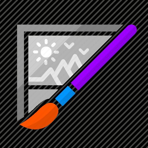 brush, creative process, creativity, design, image, photoshop, picture icon
