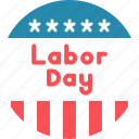 badge, day, labor, may icon