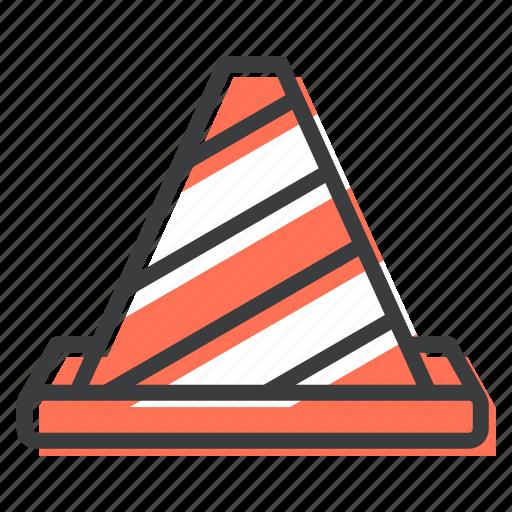 cone, construction, site, work icon