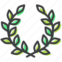 ecology, environment, flower, leaves, nature, spring, wreath icon