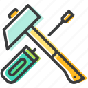 hammer, repair, screwdriver, tools icon