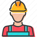 character, construction, labor, mechanic icon