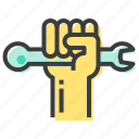 labor, mechanic, rights, strength icon