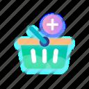 basket, shopping, shop, ecommerce, store, bag