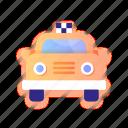 taxi, car, service, transportation