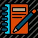 book, literature, notebook icon