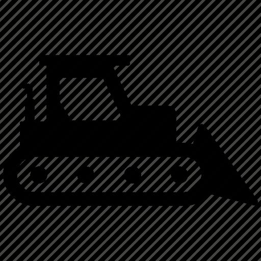 bulldozer, digging, excavator icon