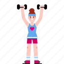 dumbbells, training, workout icon