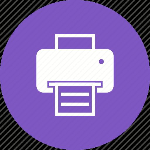 computer, equipment, laser, office, paper, printer icon