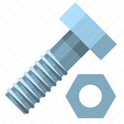 and, bolt, from, hardware, nut, screw, top icon