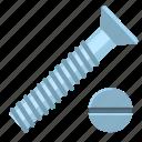 screw, head, impact, hardware, tool, top, repair