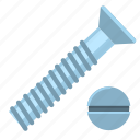 head, screw, hardware, impact, tool, top, repair icon