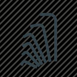drive, head, hex, screw, slot, tool, type icon