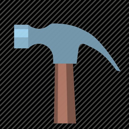 equpiment, hammer, hardware, head, nail, nailing, tool icon
