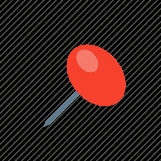 drawing pin, hardwre, pin, tack, thumbtack, tool icon