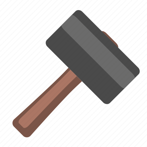 building, construction, hammer, repair, rubber, tool, work icon