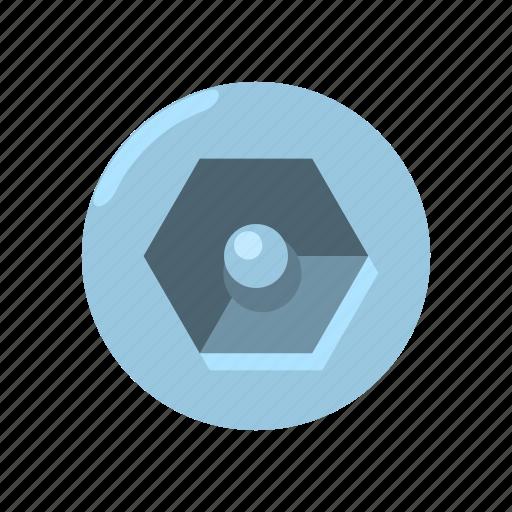 drive, hardware, head, roof, screw, slot, type icon