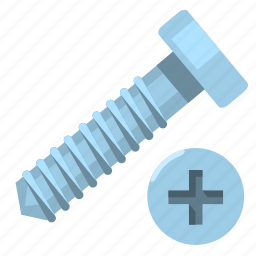 hardware, head, on, scourer, screw, tool, top icon