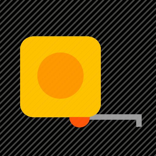 hardware, line, measure, measurement, ruler, scoop, tape icon