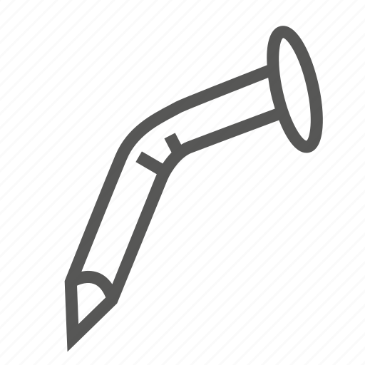 broken, construction, hammer, nail, repair, tool, twisted icon