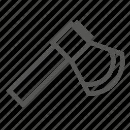 axe, chopper, cutting, hatchet, tool, wood, work icon