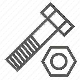 bolt, cap, hardware, nut, on, screw, top icon