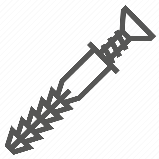 anchor, hardware, repair, screw, tool, tools, wall icon