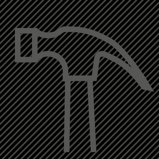 equipment, hammer, hardware, head, nail, nailing, tool icon