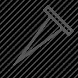 hardware, nail, nails, sharp, tool, upholstery, wood icon