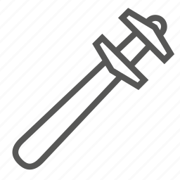 french, hardware, key, old, spanner, tool, wrench icon