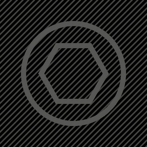 drive, hardware, head, screw, slot, torx, type icon