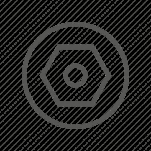 drive, head, roofing, screw, slot, type icon