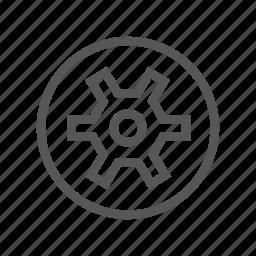 drive, head, screw, security, slot, type icon