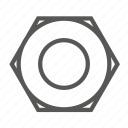 cog, gear, nut, on top, screw, tools, top icon