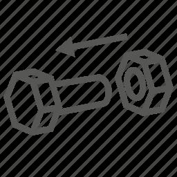 anchor, cleat, dowel, hardware, peg, stud, tee icon
