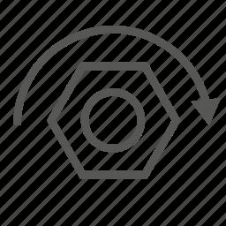 drive, hardware, head, repair, screw, tool, wood icon