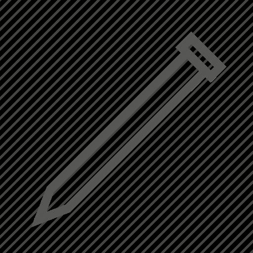 hammer, nail, nailing, sharp, small, tool, woodwork icon