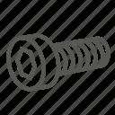 cap, hadware, head, screw, socked, socket, tool icon