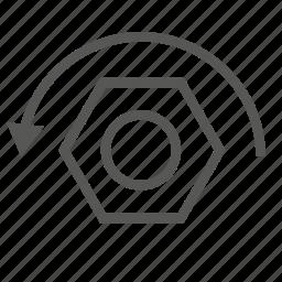 lefty loosy, nut, repair, screw, tool, top, unscrew icon