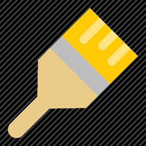 brush, paint, tools, workshop icon
