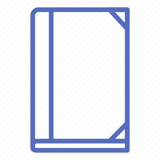 book, cover, library, notebook, office, reading icon