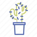 cactus, flowerpot, office, plant, pot, prickle, thorn icon