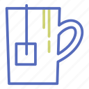 beverage, cup, infusion, mug, office, tea icon