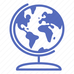 ball, earth, globe, map, office, planet, world icon
