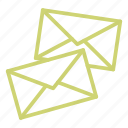 email, envelope, letter, mail, message, office, post icon