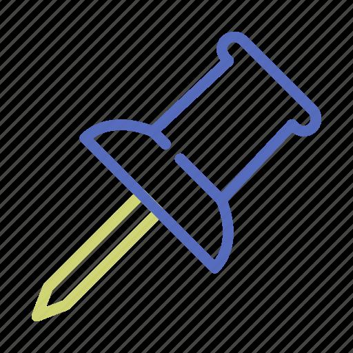 office, pin, tack, thumbtack icon